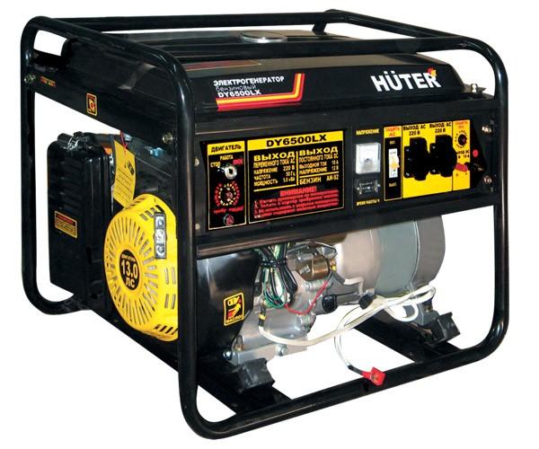Портативный бензогенератор HUTER DY6500LX - фото товара