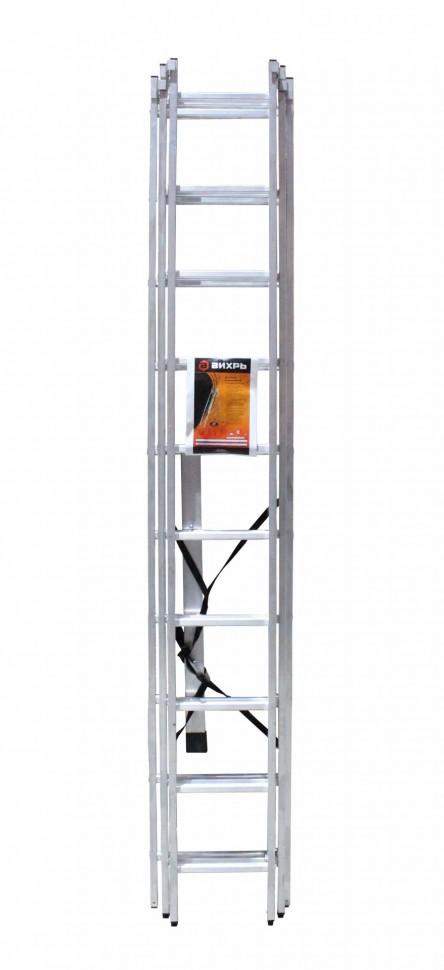 Лестница алюминиевая ВИХРЬ ЛА 3х10 - фото товара