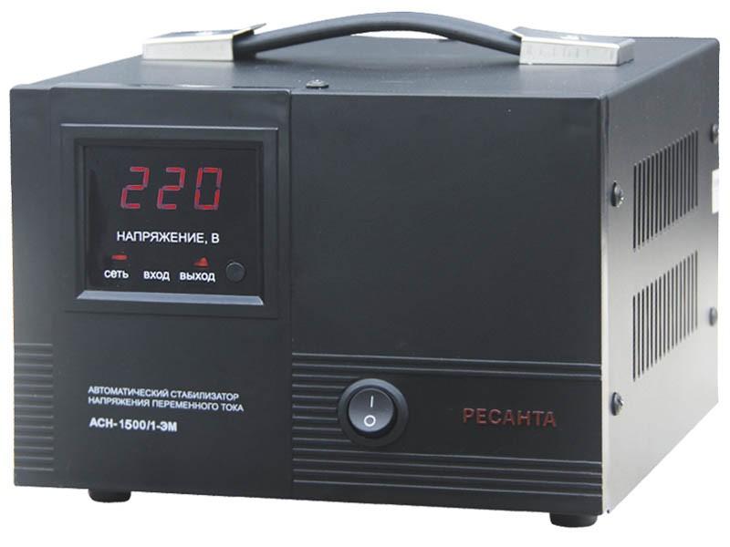 Стабилизатор напряжения РЕСАНТА АСН-1500/1-ЭМ - фото товара