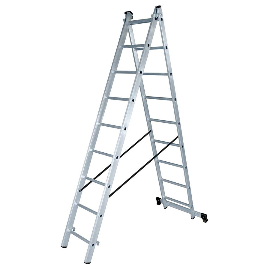 Лестница алюминиевая ВИХРЬ ЛА 2х9 - фото товара